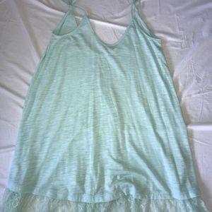 Mini Dress with Lace Bottom